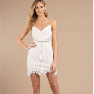 In the Night White Lace Bodycon Dress